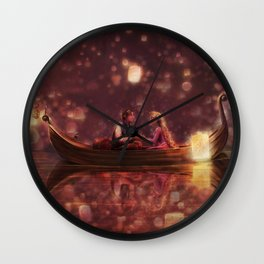 And At Last, I See the Light Wall Clock