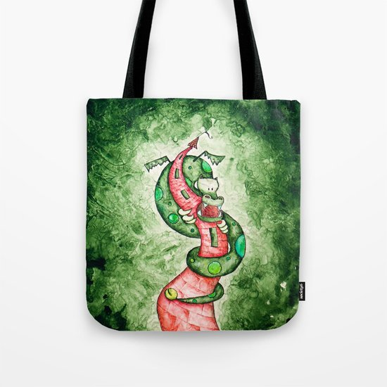 The Dragon and The Tower Tote Bag