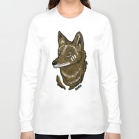 coyote Long Sleeve T-shirts featuring Coyote by Sergio Campos