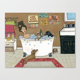 Wieners in the Tub Canvas Print