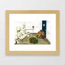 Somewhere to Cry Framed Art Print