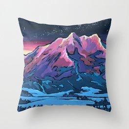 Alpen Glow Throw Pillow