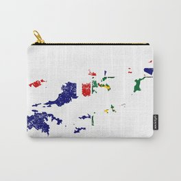 Distressed Virgin Islands British Map Carry-All Pouch