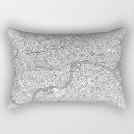 London Map Line Rectangular Pillow