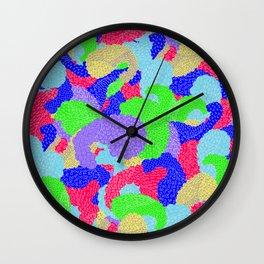 Multicolor Paisleys  Wall Clock