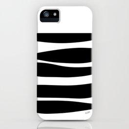 Irregular Stripes Black White Waves Art Design iPhone Case