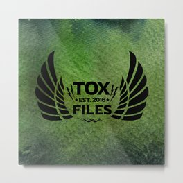 Tox Files - Black on Green Metal Print