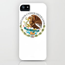 Coat of Arms & Seal  of Mexico on white iPhone Case
