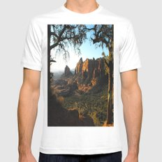 On a clear day Mens Fitted Tee MEDIUM White