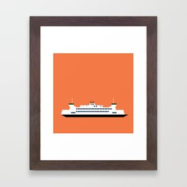 Puget Sound Ferry Pop Art - Seattle, Washington Framed Art Print