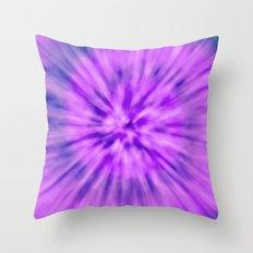 PURPLE TIE DYE Throw Pillow