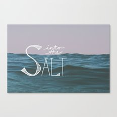 Into the Salt Canvas Print