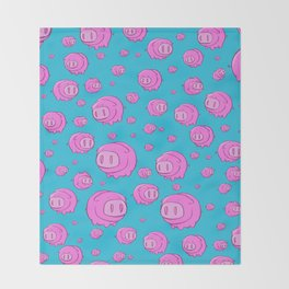 When Pigs Fly, Or Float! Throw Blanket