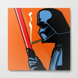 Vader Chillin (orange) Metal Print