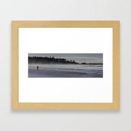 Beached Fisherman Framed Art Print