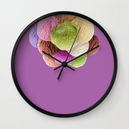 Ice Cream Interior Design Food Poster Minimal Art Print Lavender Home Decoration Wall Clock