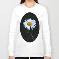 jewish Long Sleeve T-shirts featuring A daisy a day keeps the blues away by Brown Eyed Lady