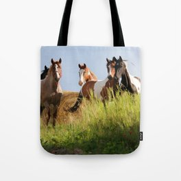 The Wild Bunch-Horses Tote Bag