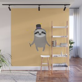 Magician Sloth with wand T-Shirt for all Ages Wall Mural