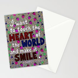 I Want To Touch The Heart Of The World Stationery Cards