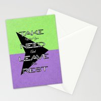 Take What You Need Stationery Cards