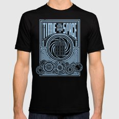 Time and Space MEDIUM Black Mens Fitted Tee