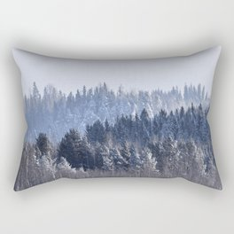 Blue shades in cold winter morning Rectangular Pillow