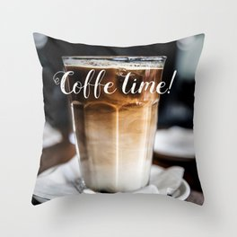 Coffe time! Throw Pillow