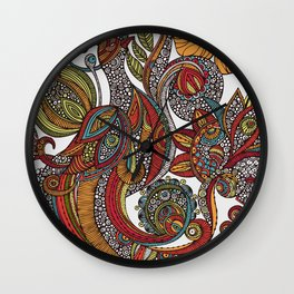 Feather Heaven Wall Clock