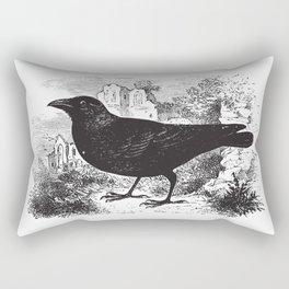Vintage Crow Rectangular Pillow