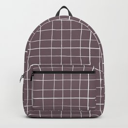 Dusty purple plaid Backpack