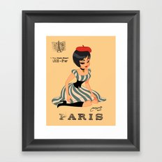 french girl  Framed Art Print