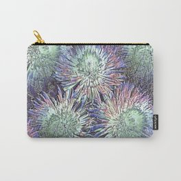 Artfully abstract blooming ice flowers Carry-All Pouch