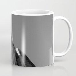 black and white building abstract Coffee Mug