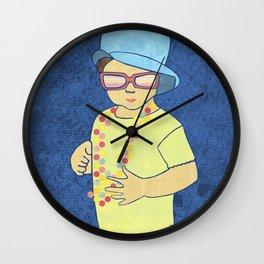 Fashionable little girl Wall Clock