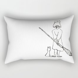 Believe in Yourself (Kiki) - Sketch Rectangular Pillow