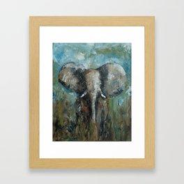 The Elephant | Oil Painting Framed Art Print