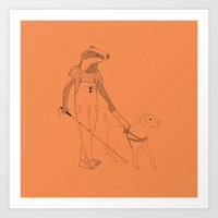 badger Art Prints featuring Badger by Joppe Weeber