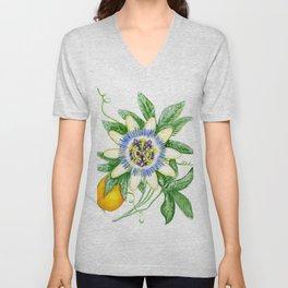 Luscious Passion Flower Unisex V-Neck