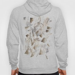 180630 Grey Black Brown Abstract Watercolour 2| Watercolor Brush Strokes Hoody