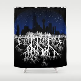 Smothered Nature Shower Curtain