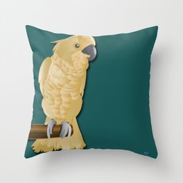 Ivory the Bird Throw Pillow