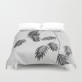 oat grass in black and white Duvet Cover