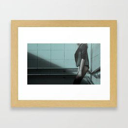 girl waiting for sex whore ass hot Framed Art Print