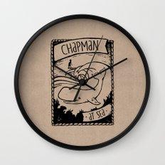 Chapman at Sea Wall Clock