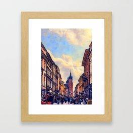 Cracow Florianska street Framed Art Print
