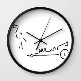 dragster moto sport run car Wall Clock