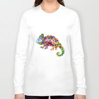 chameleon Long Sleeve T-shirts featuring Chameleon by RAW-CUT