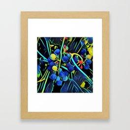 Abstract Grapes Framed Art Print