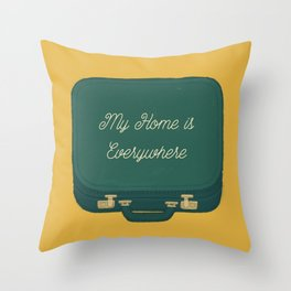 My Home is Everywhere Throw Pillow
